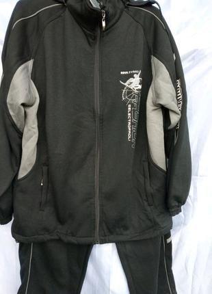 Костюм мужской спортивный на байке средней плотности черный