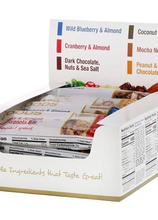 California Gold Nutrition Foods ассорти батончиков снеков. 12 шт.