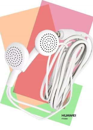 Наушники-Гарнитура,оригинал Huawei белые с пультом.