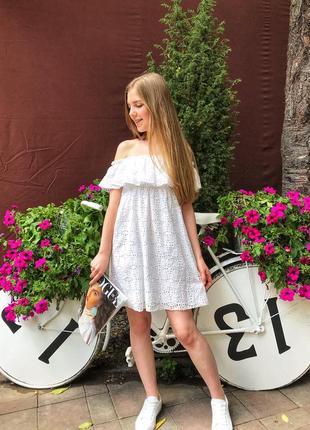 Платье с вышивкой zara original