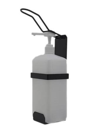 Локтевой дозатор c 1л емкостью SK EDW1К WB черный RAL 9005