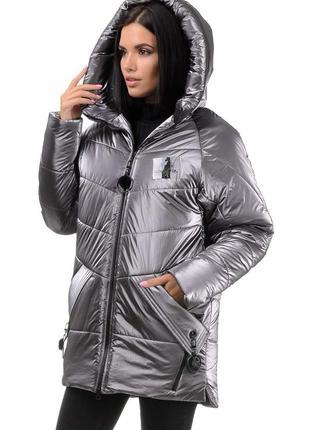 Супер новинка ! молодежная зимняя куртка-пуховик дождик - 42-4...