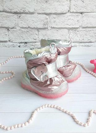 Зимние сапожки-дутики для девочек