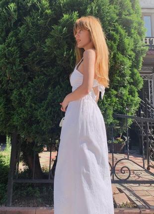 Платье миди с вышивкой zara original
