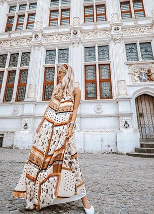 Длинное платье в принт zara original