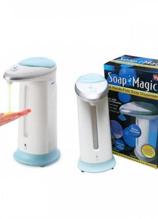 Сенсорный дозатор для мыла Soap magic диспенсер 300 мл