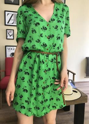 Платье в принт zara original