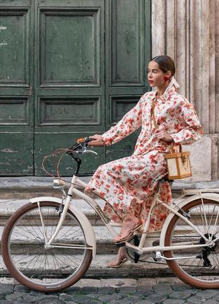 Коттоновое платье рубашка в цветочный принт zara original