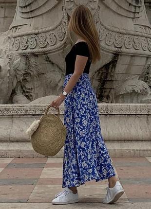 Длинная юбка в цветочный принт zara