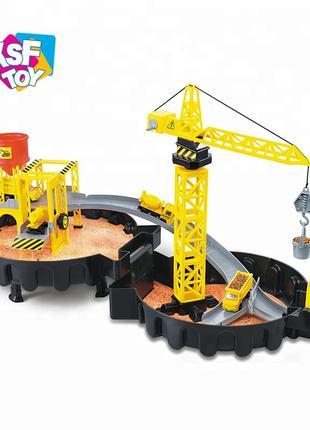 Набор детская парковка гараж  строительный грузовик