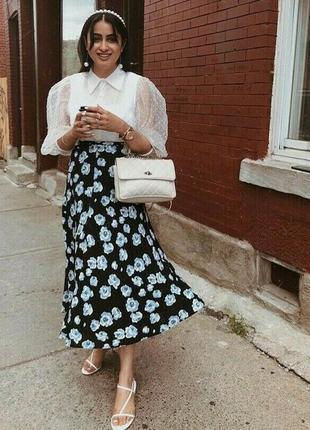 Длинная юбка в принт от zara