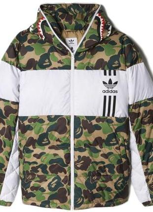 Зимняя куртка bape x adidas