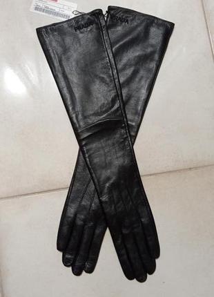 Длинные кожаные перчатки новые 7-.7.5 тренд 2021🔥