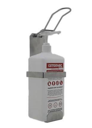 Локтевой дозатор c антисептиком 1л SK EDW1К WS металлик