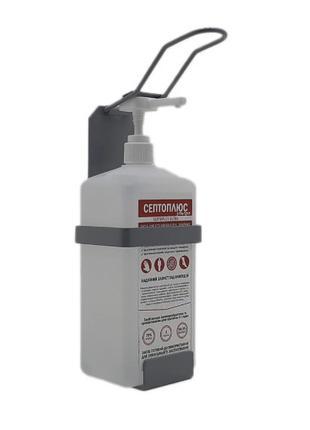 Локтевой дозатор c антисептиком 1л SK EDW1Y WS серый