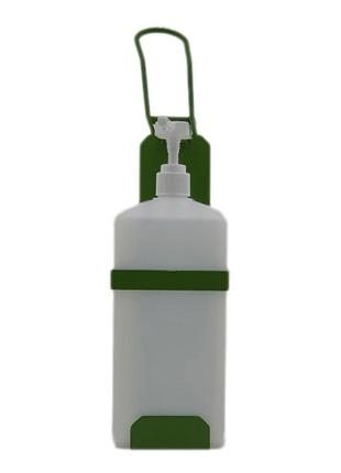 Локтевой дозатор c 1л емкостью EDW1К WB зелёный RAL 6018