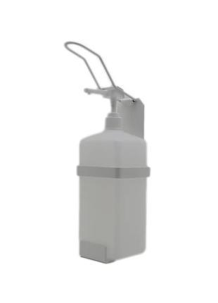 Локтевой дозатор для антисептика SK EDW1Y с флаконом 1л белый