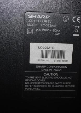 телевизор sharp lc32sa1e на разборку