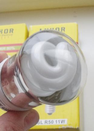 Лампы 11w E14 КЛЛ энергосберегайки Luxor R50 рефлекторные теплый