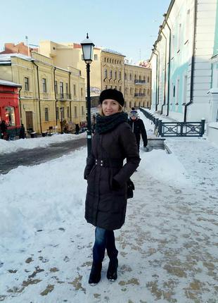 Пуховик/пальто/куртка длинная классный тёпленький удобный