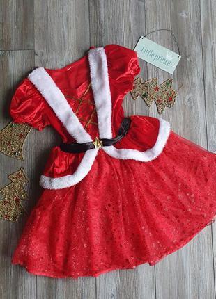 Платье новогоднее пышное george 6-7л