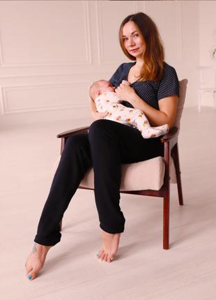 Пижама хлопковаядля беременных и кормящих женщин