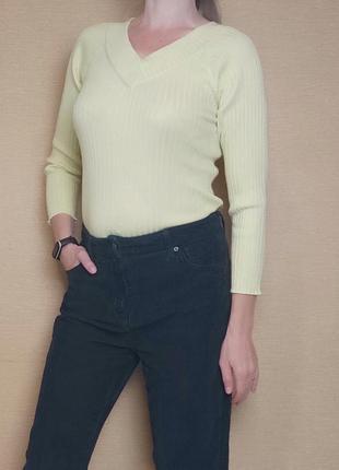 Кофта джемпер пуловер в рубчик лапша