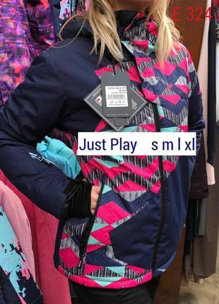 Горнолыжная термо куртка женская just play