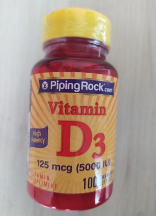 Витамин D 3 125 mcg 100 кап США.