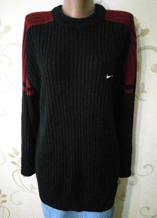 Nike . 35% шерсть . свитер джемпер пуловер . большой размер