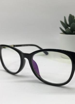 Стильные имиджевые очки gucci 5030 с компьютерной защитой чёрные