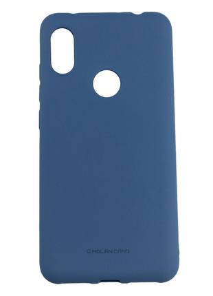 Силиконовый чехол для Xiaomi Redmi Note 6 Pro, Molan Cano, синий