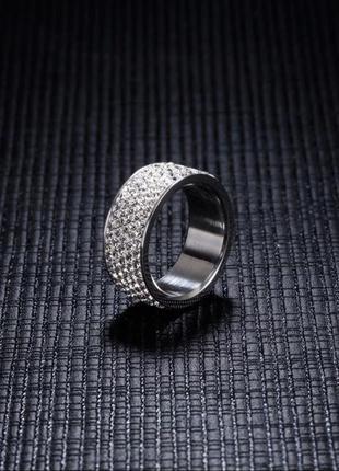 Кольцо колечко каблучка серебро новое с камнями