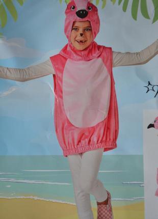Костюм детский карнавальный фламинго размер 98-110