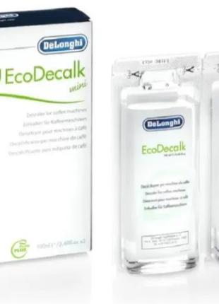 Засіб від накипу Delonghi EcoDecalk mini 2x100 мл (DLSC 200)