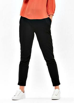 Высокие брюки-джоггеры из плотной ткани понте, демисезон р.18
