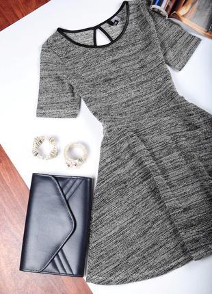 Женское платье с коротким рукавом, юбка солнце divided мини