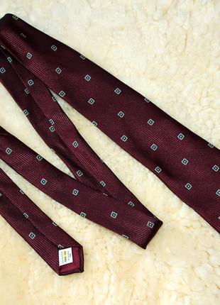 Бордовый мужской галстук