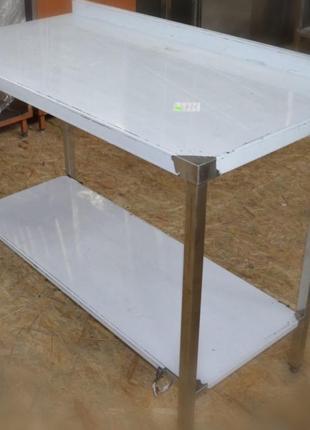 Стол с полкой из нержавеющей стали