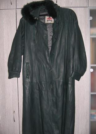 Кожаное пальто италия