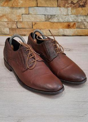 Туфли мужские от oxmox натуральная кожа италия размер 40