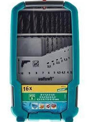 Набор сверл универсальных HSS 16шт. Wolfcraft 8614000 Германия