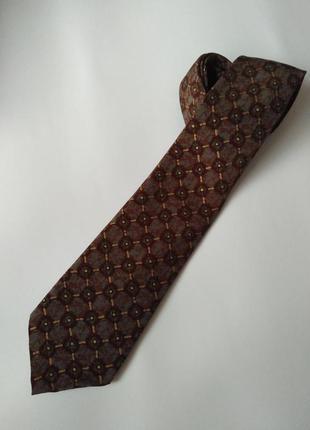 Фирменный галстук краватка шелк оригинальный подарок мужчине