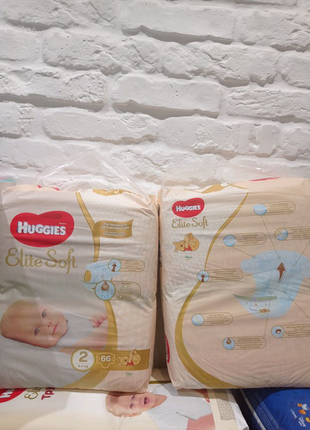 Huggies elite soft 2 66шт Чехия