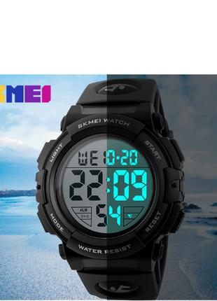 Мужские спортивные водонепроницаемые часы SKMEI 1258 цвет черный