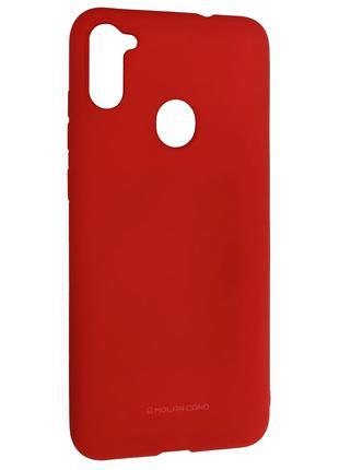 Силиконовый чехол для Samsung Galaxy M11 (SM-M115), красный