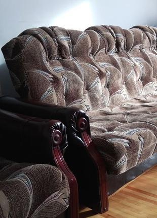 Комплект мягкой мебели | Диван + два кресла