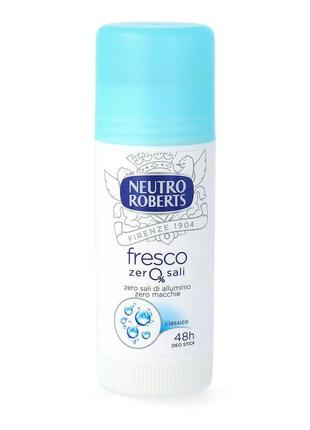 Дезодорант антиперспирант стик neutro roberts fresco 40 мл