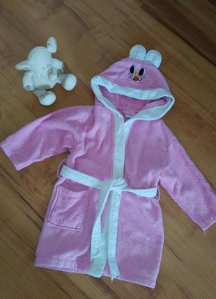 Детский махровый халат на 3-5 лет