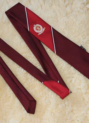Бордовый тонкий школьный галстук